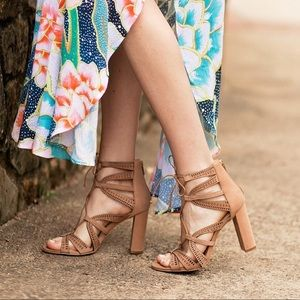Vince Camuto Mindie Blush Strappy Sandals